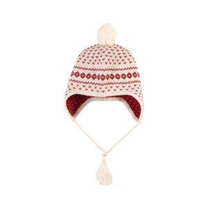 Bonpoint Intarsia Knit Cashmere Babymössa Gräddvit T1 (1-3 months)