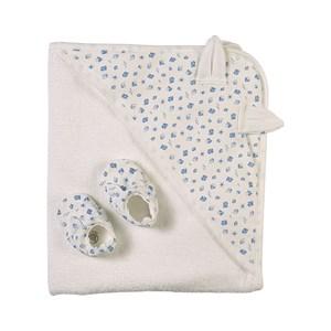 Petit Bateau Boat Print Bunny Handduks-set Vitt one size