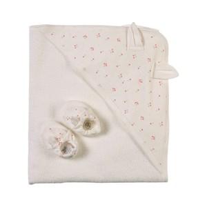 Petit Bateau Cherry Print Bunny Handduks-set Vitt one size