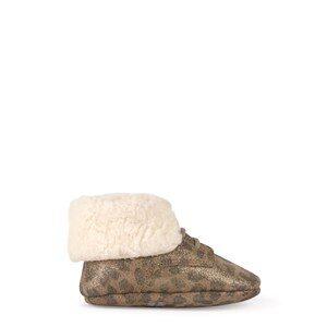 Pom d'Api Leopard Crib Shoes Brown 18 EU