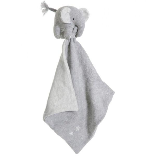Teddykompaniet Cozy Knits Elefant Snuttefilt