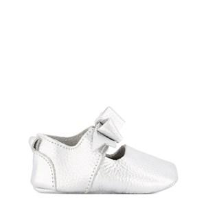 BabyMocs Bow Ballerinaskor Silver 0-6 mån