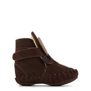 Donsje Amsterdam Kapi Exclusive Lining Lära Gå-skor Moose Chocolate Nubuck 0-6 mån