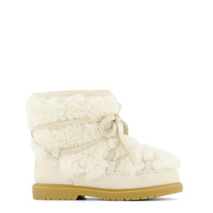 Donsje Amsterdam Inuka Lining Stövletter Off White Curly Sheep Wool 23 EU