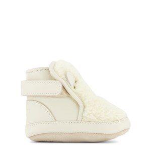 Donsje Amsterdam Richy Polar Bear Babyskor Off White Curly Faux Fur 0-6 mån
